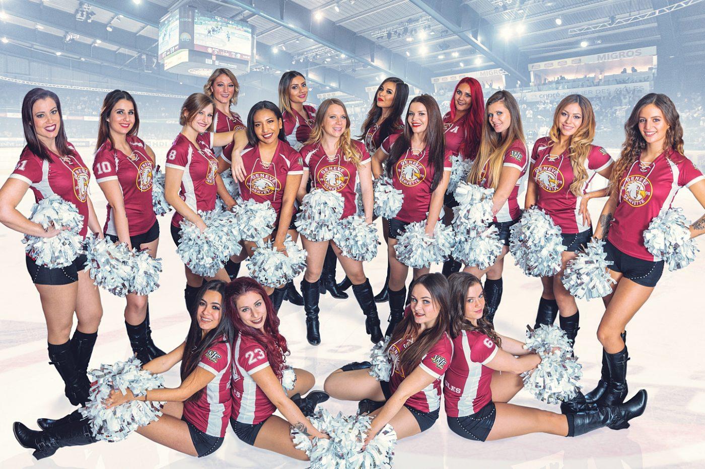 Photo de groupe des Eagle Wild Geneva Cheerleaders 2018